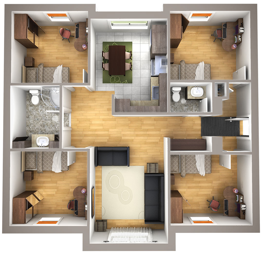 Plan - 6 chambres