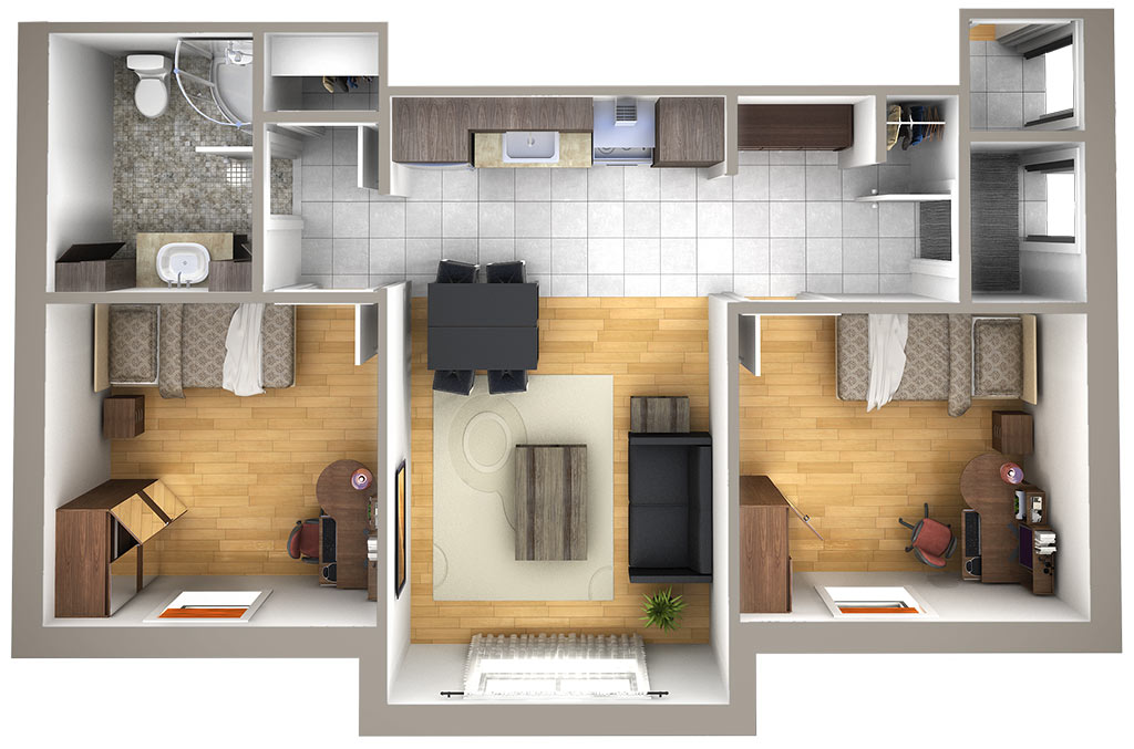 Plan - 4 chambres